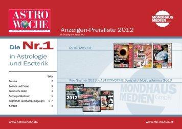 Astro-Preisliste 2012