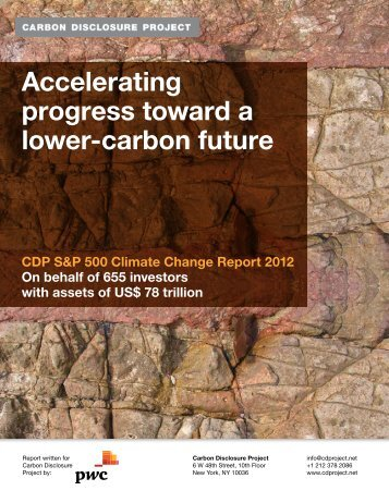 S&P 500 Climate Change Report - Carbon Disclosure Project