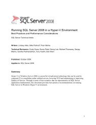 Running SQL Server 2008 in Hyper-V Environment - Emulex