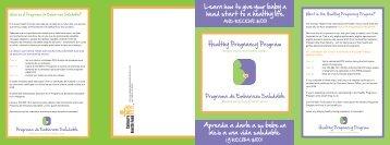 Pulse aquí para ver el Folleto del Programa de Embarazos Sanos.
