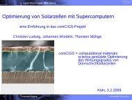 Optimierung von Solarzellen mit Supercomputern - GI ...