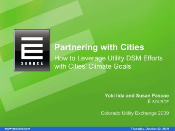 How to Leverage Utility DSM Efforts with Cities - UtilityExchange.org