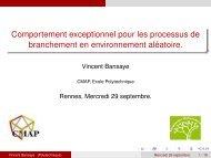 Transparents de l'exposé - ENS de Cachan - Antenne de Bretagne