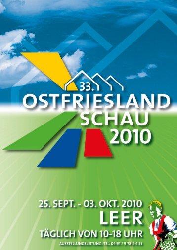 33. ostfrieslandschau leer 25. september - 03 ... - Friedrich Haug