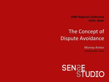 The Concept of Dispute Avoidance - drbfconferences.org