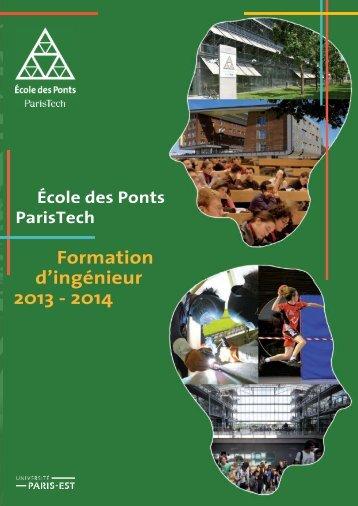 Formation d'ingénieur 2013 - 2014 - ENPC