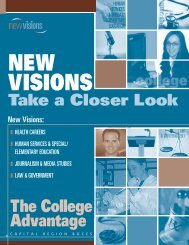 New Visions Career Exploration - South Colonie Central Schools