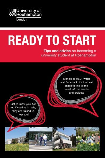 Ready to Start Top Tips Guide - Roehampton