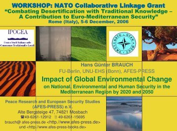 Impact of Global Environmental Change