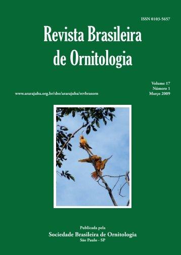Capa 17(1) - fechada.indd - Sociedade Brasileira de Ornitologia
