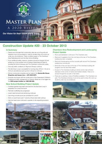 MAStER PlAN - Somerville House