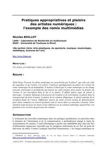 Pratiques appropriatives et plaisirs des artistes numériques - Culture ...