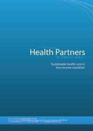 Company brochure PDF - Health Partners International
