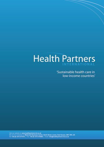 Company brochure PDF - Health Partners International