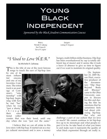 YOuNG BLACK INDEPENDENT - The Essay Magazine