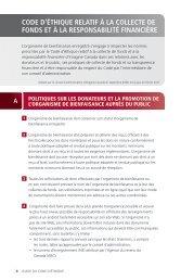 Code d'éthique ReLAtiF À LA CoLLeCte de FoNdS et À LA ...