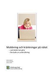 Mobbning och kränkningar på nätet - Social utveckling - Göteborg