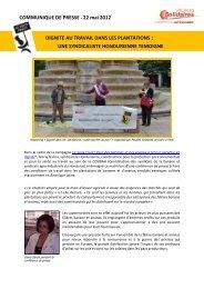 Dignité au travail dans les plantations - Peuples solidaires