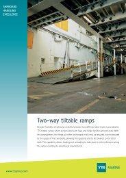 Two-way tiltable ramps MARINE - TTS Group ASA
