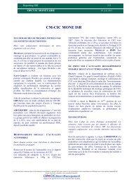 CM-CIC MONE ISR - CM-CIC Asset Management