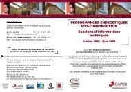 PERFORMANCES ENERGETIQUES ECO-CONSTRUCTION ...