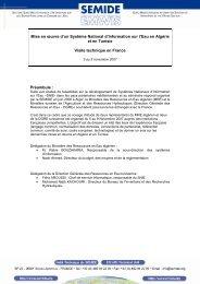 Mise en œuvre d'un Système National d'Information sur l ... - emwis