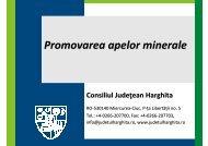 Promovarea apelor minerale - Consiliul Judeţean Harghita