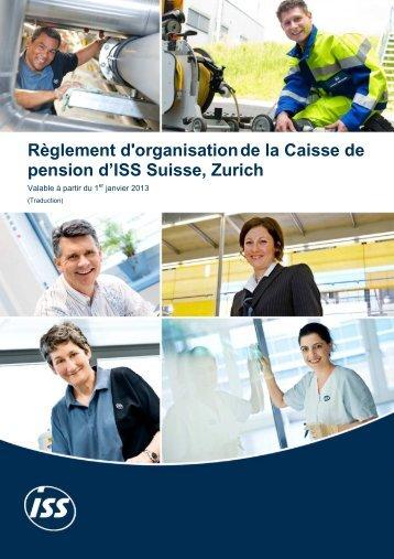 Règlement d'organisation valable à partir du 01.01.2013