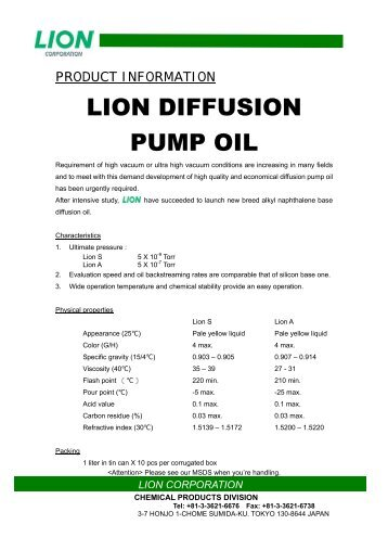 lion corporation - Ted Pella, Inc.