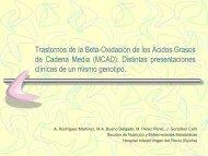 Trastornos de la Beta-Oxidación de los Ácidos Grasos de Cadena ...