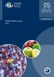 Welsh Health Survey 2011 - BHF National Centre - physical activity ...