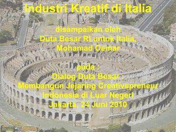 Industri Kreatif di Italia - Indonesia Kreatif