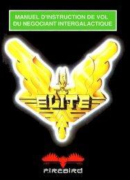 Elite - Manuel d'instruction de vol du négociant intergalactique ...