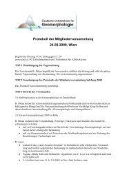 Protokoll - Deutscher Arbeitskreis für Geomorphologie