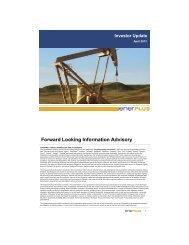 Forward Looking Information Advisory - Enerplus