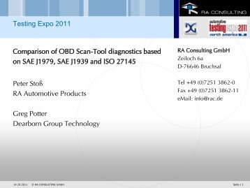 Comparison of OBD scan-tool diagnostics for vehicles and ... - ASAM