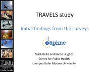 Travels Study - Initial findings from the surveys - Irefrea