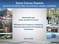 zonas francas - Ministerio de Comercio e Industrias