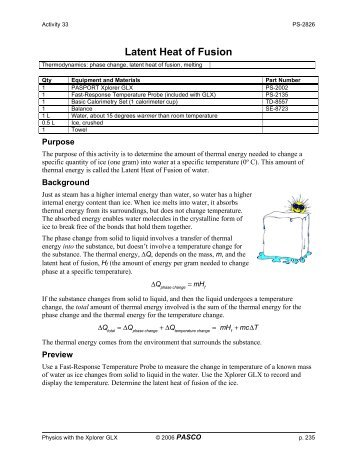 latent fusion of ice lab report