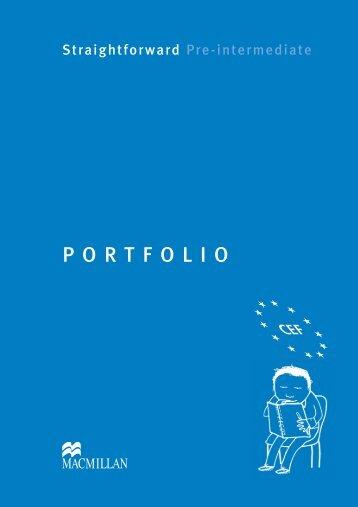 Pre Intermediate Portfolio - Straightforward