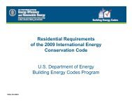 Residential Requirements of the 2009 International Energy ...