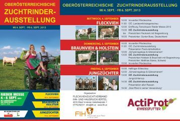 Programm - Erzeugergemeinschaft Fleckviehzuchtverband Inn