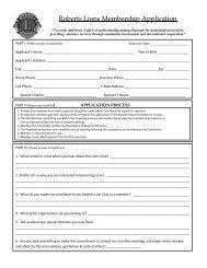 Roberts Lions Membership Application - Roberts Lions Club