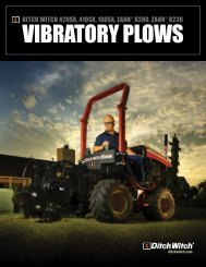 VIBRATORY PLOWS - Ditch Witch