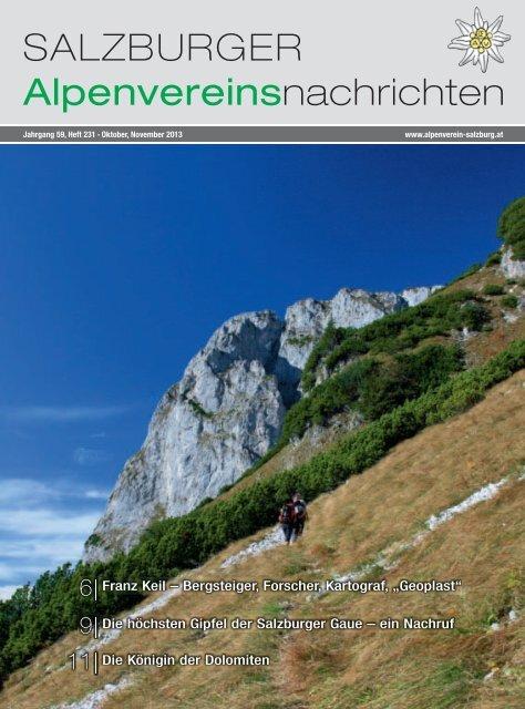SALZBURGER Alpenvereinsnachrichten - Alpenverein Salzburg