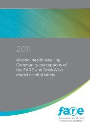 Alcohol health labelling: Community perceptions of the FARE and ...