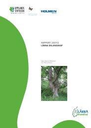 RAPPORT 2007/2 LÄNNA EKLANDSKAP - Upplandsstiftelsen