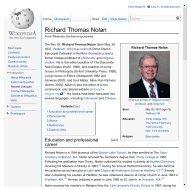 Richard Thomas Nolan - Philosophy and Religion