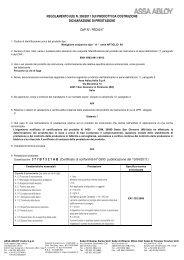 DoP PED0017 ARTIGLIO 99 EN 1125_ita.pdf - ASSA ABLOY