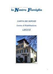 carta dei servizi sede di Lecco - IRCCS Eugenio Medea